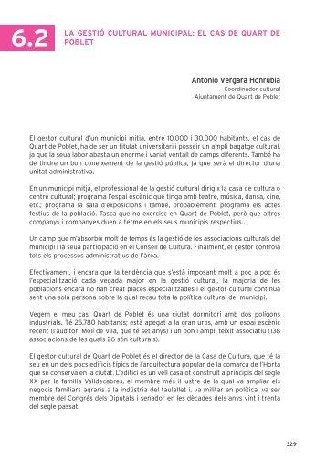 Antonio Vergara Honrubia 6.2 LA GESTIÓ CULTURAL ... - SARC