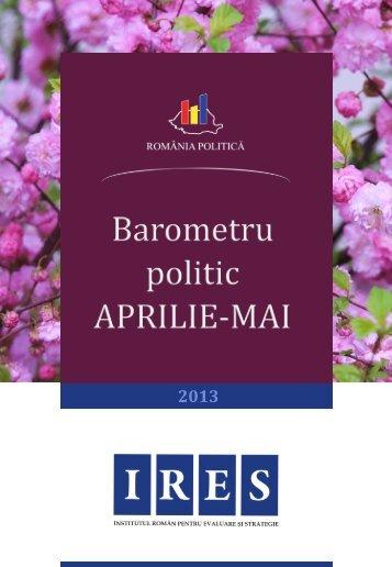 Barometrul politic Aprilie -Mai - Politica ta