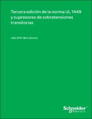 Tercera edición de la norma UL 1449 y supresores de ...