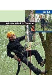 Seilklettertechnik im Gartenbau - GBG 1.1 - SVLFG
