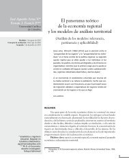 El panorama teórico de la economía regional y los modelos de ...