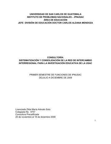 Sistematización y Consolidación de la Red de Intercambio ...