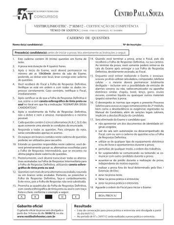 Logística - Centro Paula Souza