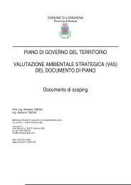 DEL DOCUMENTO DI PIANO Documento di scoping - Comune di ...