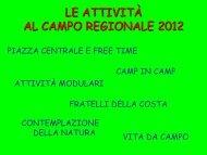 LE ATTIVITÀ AL CAMPO REGIONALE 2012 - Cinisi 1