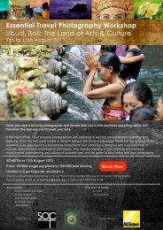 Essential Travel Photography Workshop Ubud, Bali; The Land of Arts & Culture