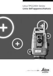 Leica TPS1200+ Series Lista dell'apparecchiatura - Leica Geosystems