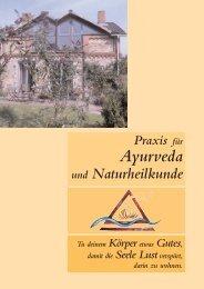 neue Info-Boschüre - Praxis für Ayurveda und Naturheilkunde