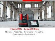 Focus 2012 : Leica 3D Disto