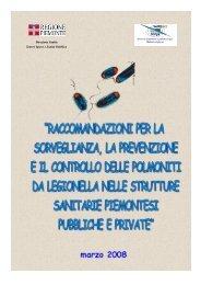 Raccomandazioni per la sorveglianza, la prevenzione e il ... - ASL AL