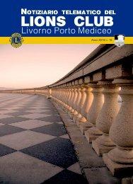 Notiziario Lions Club Livorno Porto Mediceo N° 15 Marzo 2013