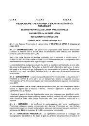 cipsconicmas federazione italiana pesca sportiva e ... - FIPSAS Latina