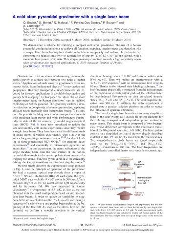 Télécharger l'article au format pdf - SYRTE - Observatoire de Paris