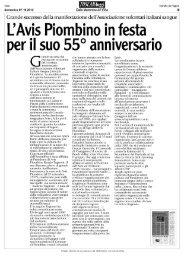 L'Avis Piombino in festa per il suo 55° anniversario