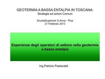 geotermia a bassa entalpia in toscana - Regeocities