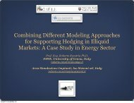Combining Different Modeling Approaches for Supporting Hedging ...