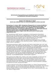 Gemeinsame Presseerklärung von Helmholtz Zentrum ... - NGFN