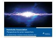 Helmholtz Association - EU-Hochschulnetzwerk Sachsen-Anhalt