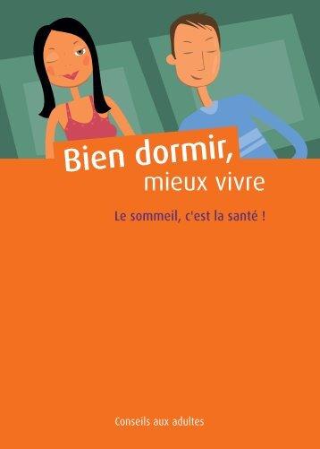 """Guide """"Bien dormir, mieux vivre"""" - Le sommeil, c'est la santé ! - Inpes"""