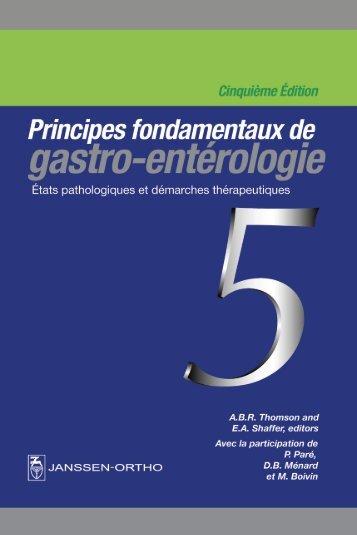 Principes fondamentaux de gastro-entérologie