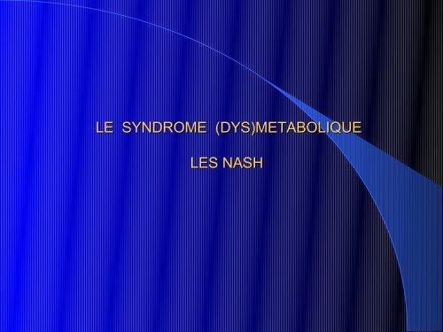 Syndrome dysmétabolique