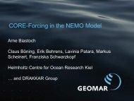 Helmholtz-Zentrum für Ozeanforschung Kiel (Arial 45 pt) - CLIVAR
