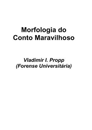 Morfologia do conto Maravilhoso - Histórias Interativas