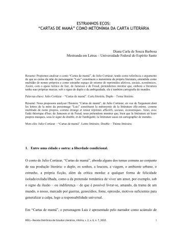 ESTRANHOS ECOS: - UFES - Universidade Federal do Espírito Santo