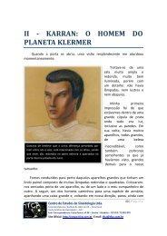 Cap. II - Karran, o homem do planeta Klermer. - TFCA