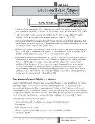 Le sommeil et la fatigue - Réseau québécois d'action pour la santé ...
