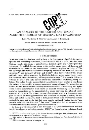 an analysis of the unified and scalar additivity theories of spectral ...