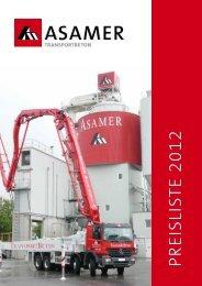 Preisliste 2012 - Asamer