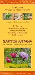 Programm 2013/14 - Garten Antana