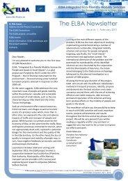 The ELBA Newsletter - Softeco Sismat Research & Innovation