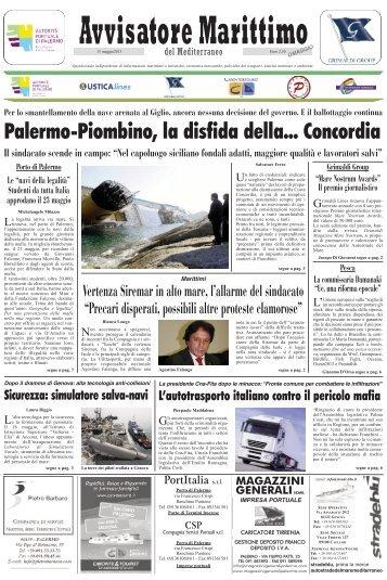 Palermo-Piombino, la disfida della... Concordia - Avvisatore ...