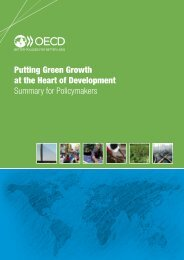 Putting Green Growth at the Heart of Development Summary for Policymakers