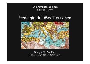 Geologia del Mediterraneo - Istituto Veneto di Scienze, Lettere ed Arti