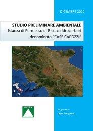 STUDIO PRELIMINARE AMBIENTALE - Comune di Apice