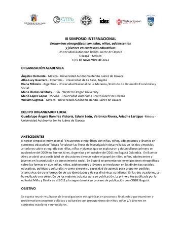III SIMPOSIO INTERNACIONAL