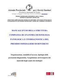 Manuale d'uso della Struttura Complessa di Anatomia - Azienda ...