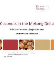 Coconuts in the Mekong Delta - Prosperity Initiative