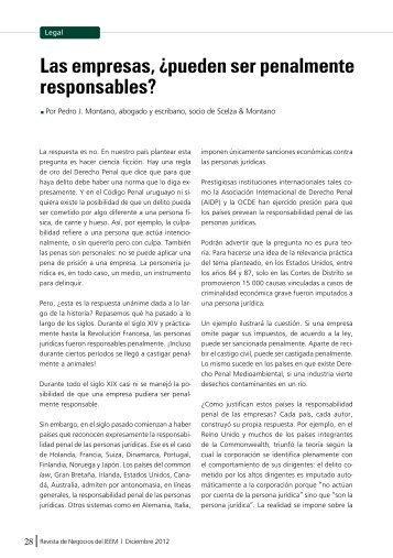 Las empresas, ¿pueden ser penalmente responsables? - IEEM
