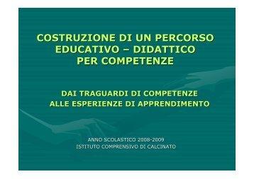 COSTRUZIONE DEL CURRICOLO.pdf - iccalcinato.gov.it