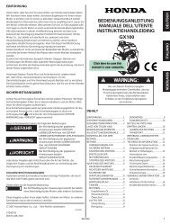 bedienungsanleitung manuale dell'utente ... - Honda Engines