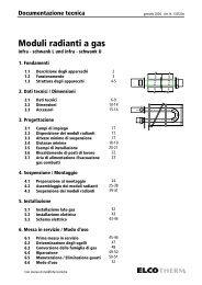Moduli radianti a gas