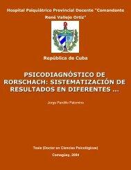 Psicodiagnóstico de rorschach - evistas.mes.edu.cu