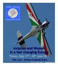 AWE - Aviation and Women in Europe - Trento June 2005