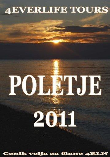 POLETJE 2011 - Cene veljajo samo za člane 4ELN