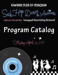 Auction Catalog - Kiwanis Club of Issaquah