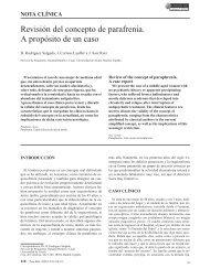 Revisión del concepto de parafrenia